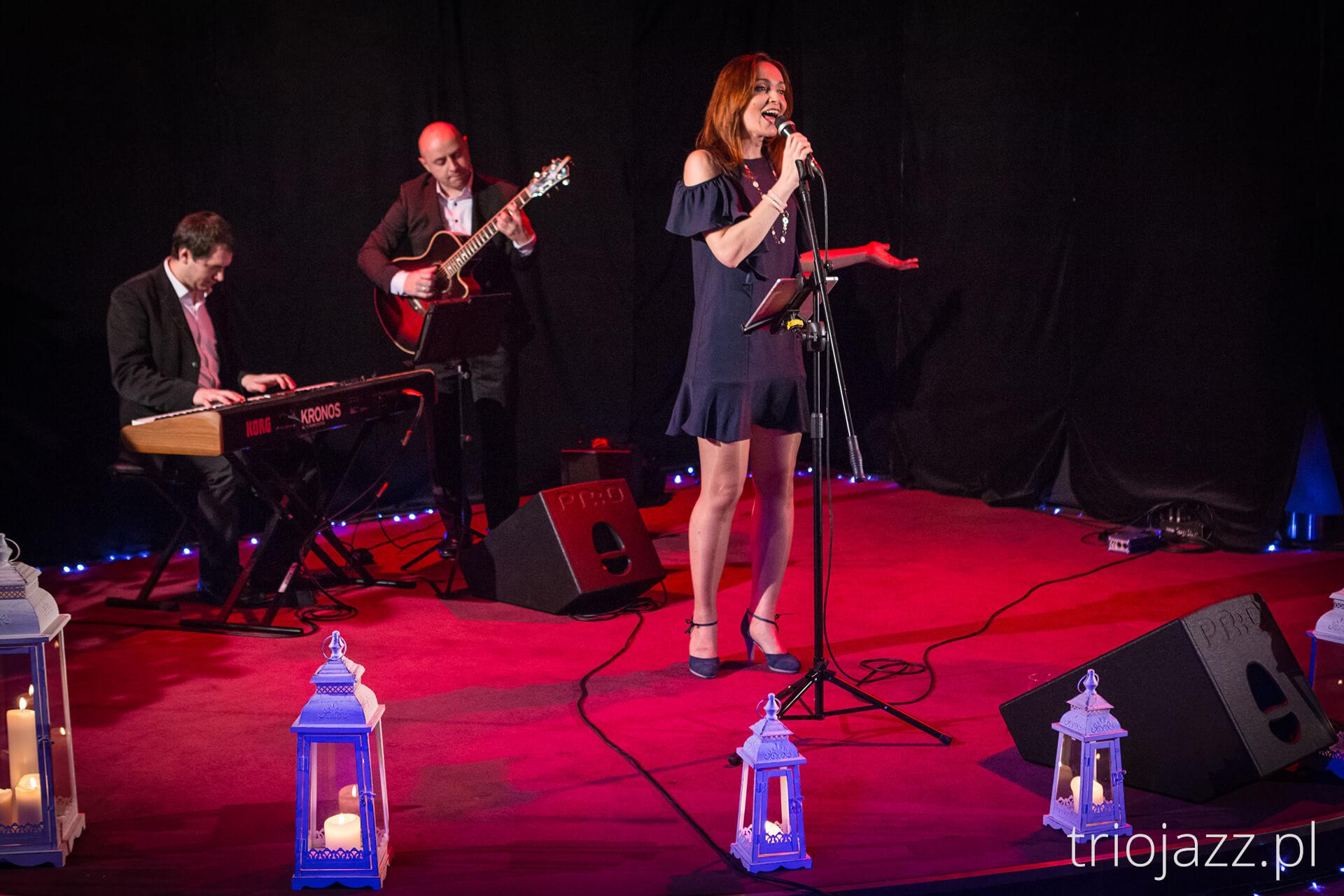 Zespół jazzowy Trio JAZZaneiro - wigilia firmowa